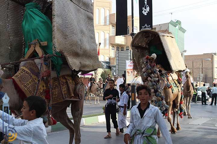 تصویر از تصاویری از صحنه های بازسازی شده واقعه کربلا به همت کاروان جان نثاران حضرت فاطمه الزهرا بیده