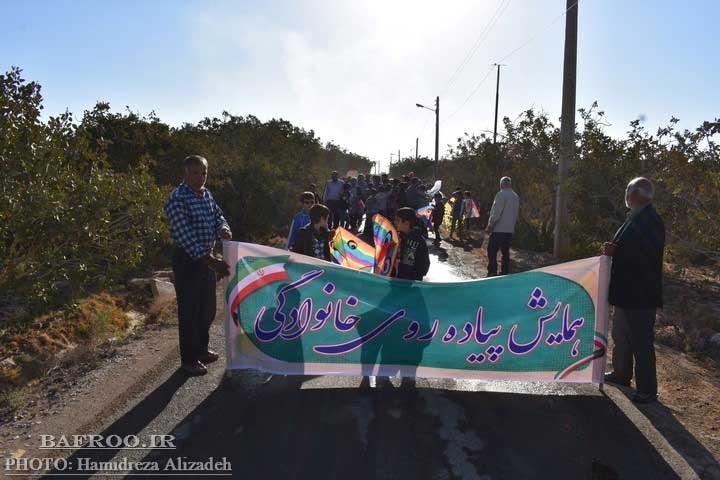تصویر از برگزاری همایش پیاده روی خانوادگی و جشنواره بادبادکها در شهر بفروئیه میبد