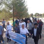برگزاری همایش پیاده روی سالمندان ، جانبازان و معلولین در پارک بهاران میبد