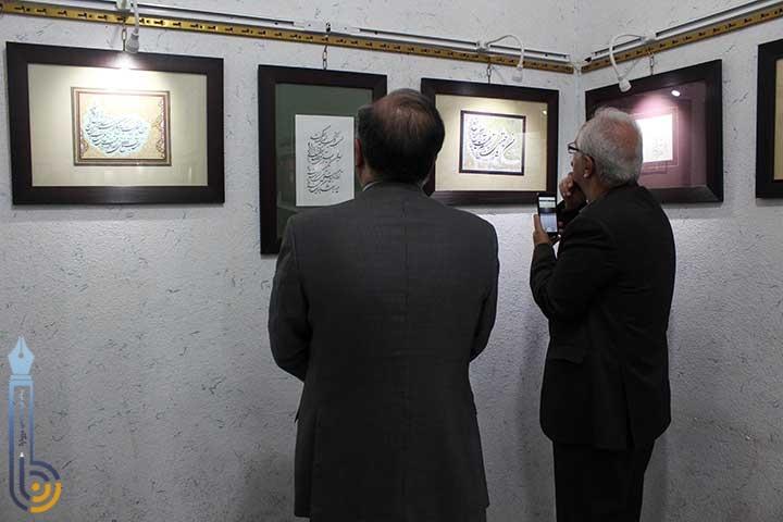 تصاویری از نمایشگاه خوشنویسی سید احمد علوی ابرقویی