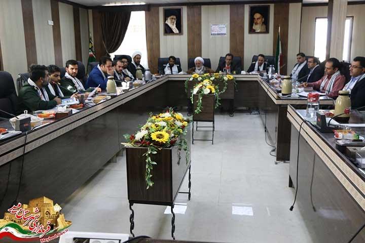 تصویر از برگزاری جلسه هماهنگی برنامههای هفته بسیج شهرستان میبد