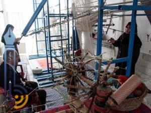 تصاویری از کارگاه زیلوبافی هفت مروارید میبد