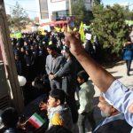 تجمع بزرگ و پر شور استکبار ستیزی در روز ۱۳ آبان در شهرستان میبد برگزار شد