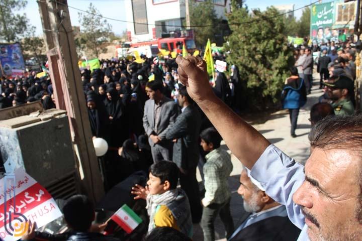 Photo of تجمع بزرگ و پر شور استکبار ستیزی در روز 13 آبان در شهرستان میبد برگزار شد