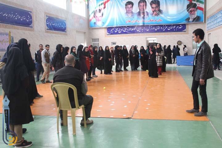 تصویر از برگزاری مسابقات ورزشی دانشجویی به مناسبت هفته بسیج در میبد