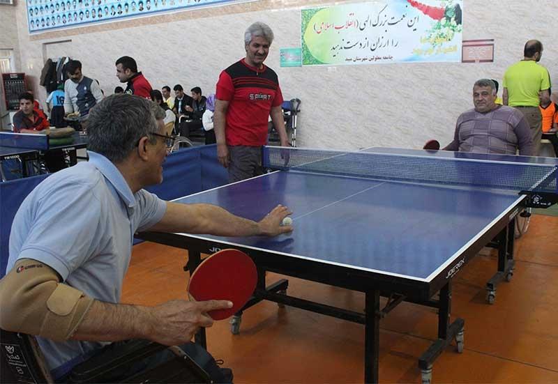 مسابقات تنیس روی میز معلولان استان یزد در میبد برگزار شد
