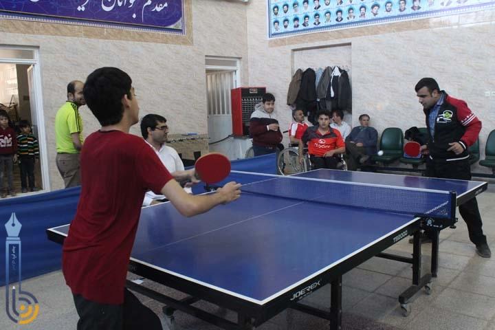 Photo of تصاویری از مسابقات تنیس روی میز معلولان استان یزد در میبد