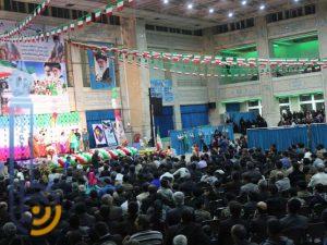 جشن چهلمین سالگرد انقلاب اسلامی ایران در مصلی آیت الله اعرافی میبد/تصاویر
