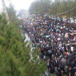 میبدی ها عظمت حضور خود را در راهپیمایی ۲۲ بهمن نشان دادند