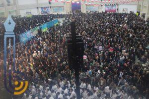 مراسم با شکوه راهپیمایی ۲۲ بهمن در شهرستان میبد/تصاویر