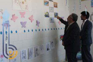 برگزاری نمایشگاه غذا و آثار هنری در دبیرستان قدس میبد/تصاویر