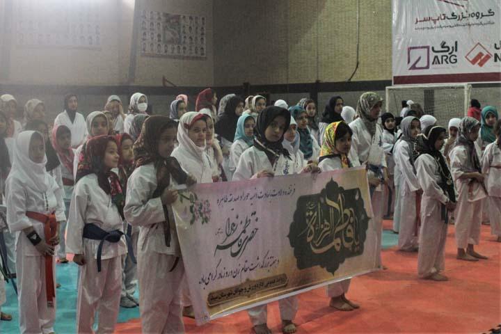 تصویر از رقابت های کاراته بانوان استان یزد در میبد/تصاویر