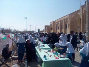 برگزاری بازارچه خیریه دردبستان قرآنی مهر ایران زمین میبد/تصاویر