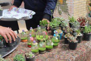 برگزاری بازارچه کارآفرینی دانش آموزی در دبیرستان شاهد باهنر میبد /تصاویر