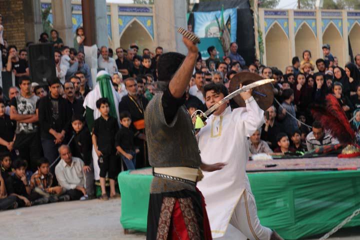 مراسم تعزیه خوانی در امامزاده سید صدرالدین قنبر میبد