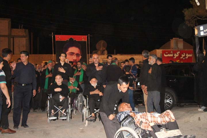مراسم عزاداری هیئت شاه حسن شاه حسین در شب عاشورای حسینی