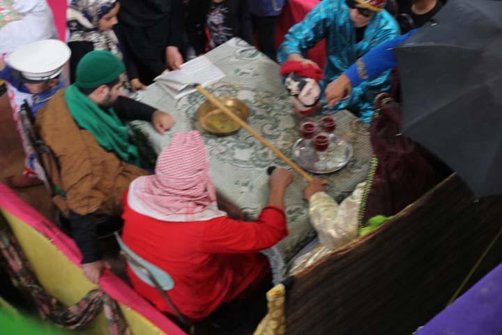 مراسم عزاداری عاشورای حسینی در حسینیه بزرگ فیروزآباد میبد