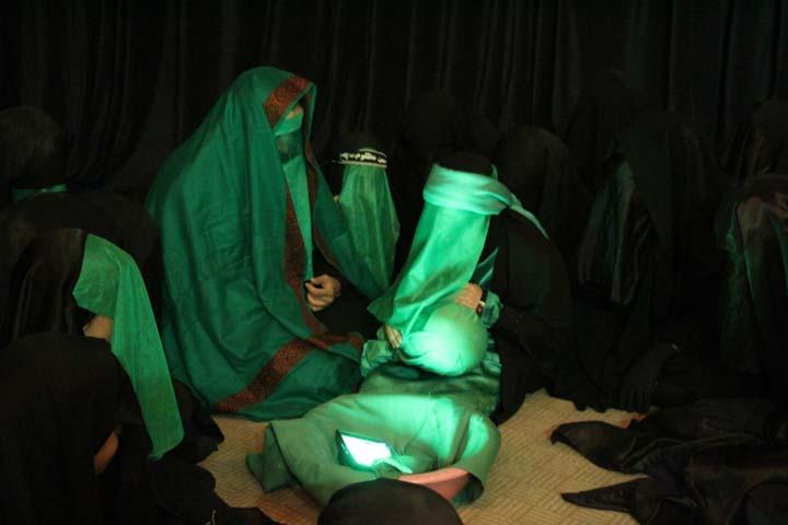 بازسازی خطبه خوانی حضرت زینب (س) و شهادت حضرت رقیه (س)