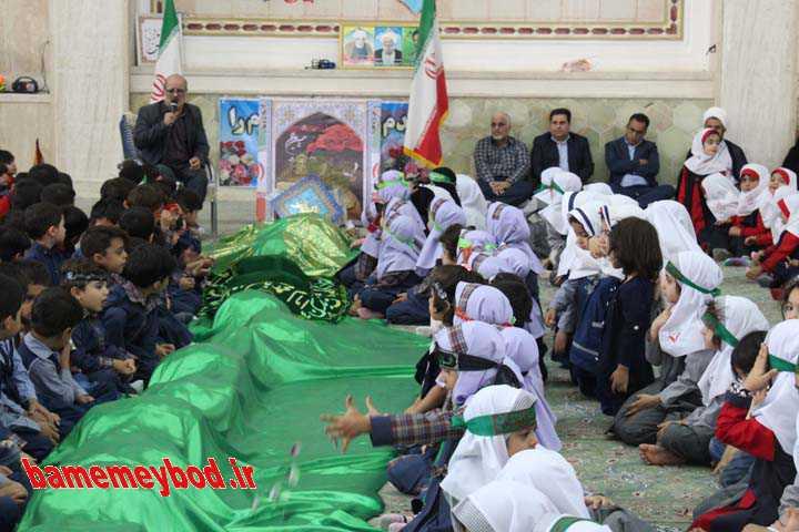 هم نوایی نونهالان میبدی با دختر سه ساله امام حسین (ع)