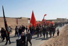 Photo of تصاویری از پیاده روزی کاروان عقیله العرب زینبیه حسن اباد در روز اربعین