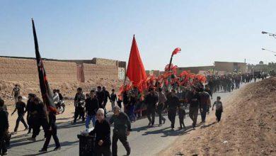 تصویر از تصاویری از پیاده روزی کاروان عقیله العرب زینبیه حسن اباد در روز اربعین