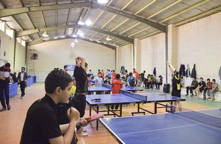 Photo of مسابقه استانی تنیس روی میز در میبد برگزار شد