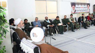 جلسه 13 آبان و بسیج دانش آموزی در بیت امام جمعه میبد