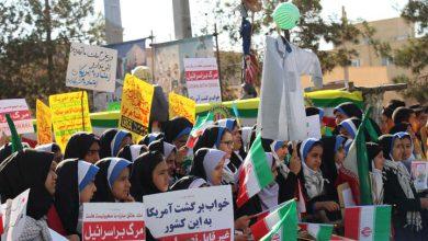 تصویر از راهپیمایی روز مبارزه با استکبار جهانی در میبد برگزار شد
