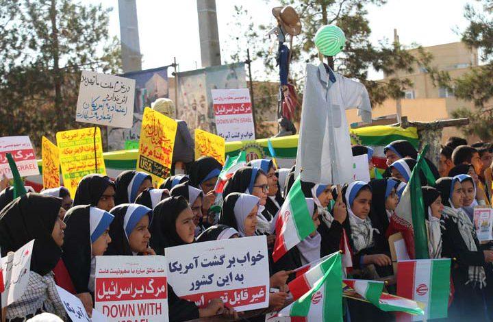 Photo of راهپیمایی روز مبارزه با استکبار جهانی در میبد برگزار شد