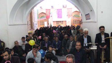 تصویر از برگزاری جشن میلاد در مسجد جامع میبد