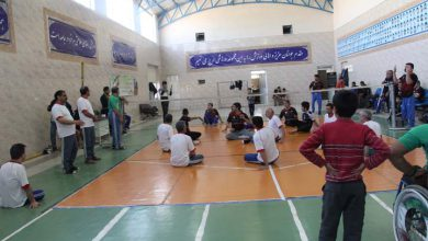 Photo of مسابقات قهرمانی والیبال نشسته در میبد برگزار شد
