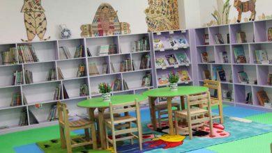 تصویر از بخش کودک کتابخانه مرکزی میبد بازگشایی شد