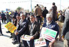 تصویر از مردم میبد در راهپیمایی ۲۲ بهمن حضوری گسترده داشتند/تصاویر بخش اول