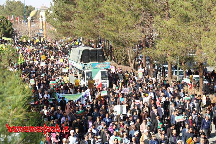 راهپیمایی 22 بهمن میبد سال 98