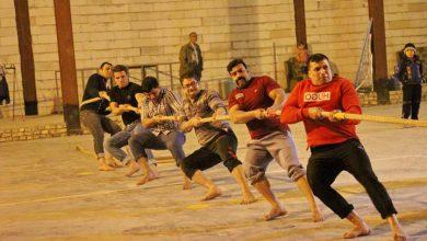 تصویر از مسابقات طناب کشی آقایان در میبد برگزار شد