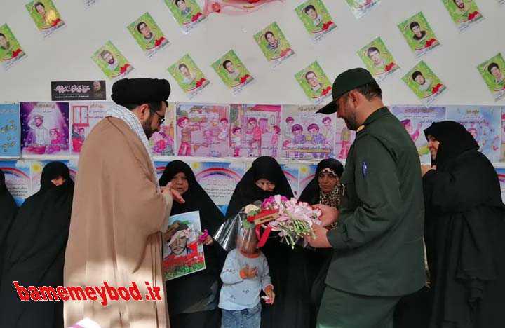 مراسم تکریم همسران ومادران شهدا در مدرسه مهر ایران زمین