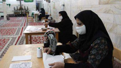 تصویر از همت داوطلبانه میبدیها در تولید ماسک