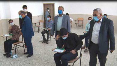 تصویر از آزمون سراسری کنکور با تمهیدات اندیشیده شده در میبد برگزار شد
