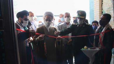 تصویر از سالن شهدای بسیج میبد افتتاح شد
