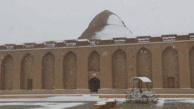 بارش اولین برف زمستانی سال 99 در میبد